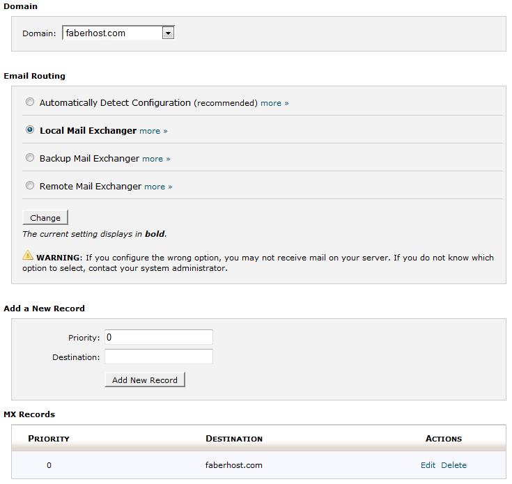 halaman konfigurasi MX Entry - ilmuwebhosting.com