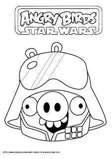 ANGRY BIRDS STAR WARS COLORING PICTURES