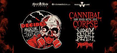 Decibel Magazine Presents Cannibal Corpse, Napalm Death and Immolation 2013 US Tour