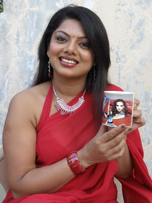 Actress Swathi Varma in a Red Hot Saree and Blouse