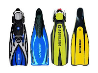 dive fins, open heel fins, full foot fins, split fins, how to choose the right scuba fins