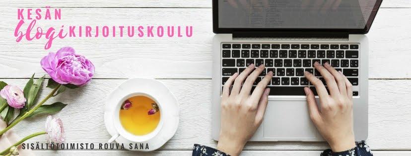 Kesän 2018 blogikirjoituskoulu