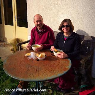 French Village Diaries New Year lunch in garden 31st December 2015