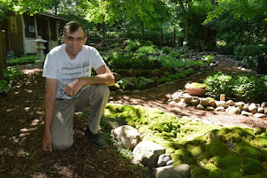 Dale in the Japanese-style garden