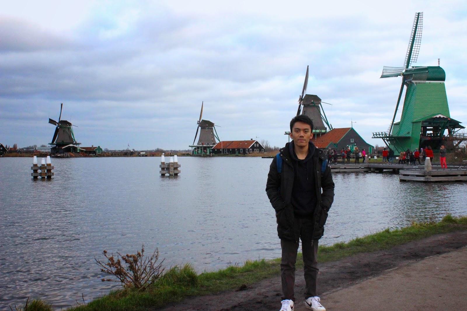 Kincir Angin di Zaanse Schans, Belanda
