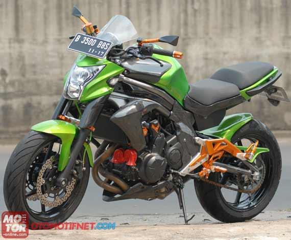 Modifikasi Kawasaki ER-6n Pelek 6 Inci