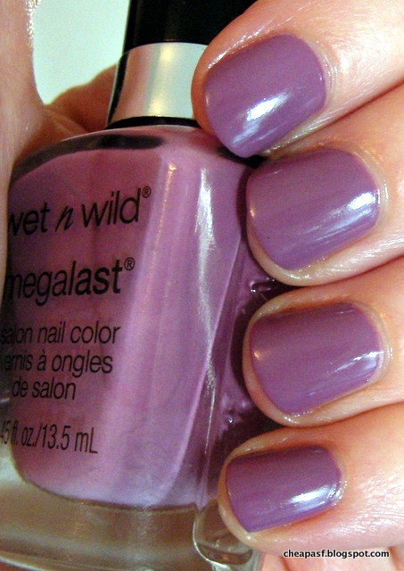 Swatch of Wet N Wild MegaLast nail polish in Bite the Bullet