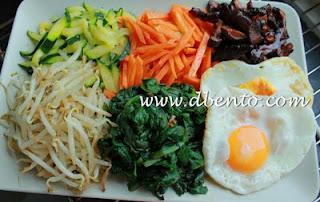 resep dan cara menyajikan bibimbap di mangkuk biasa