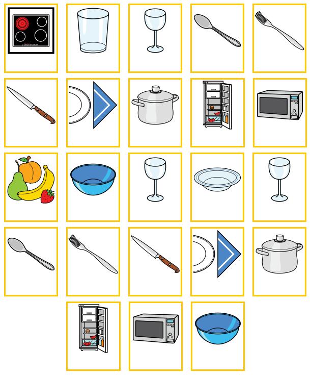 Objetos de la casa en ingles imagui - Objetos de cocina ...