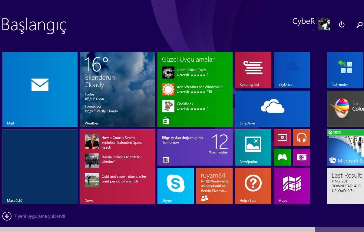 Windows 8.1 Update 1 Metro