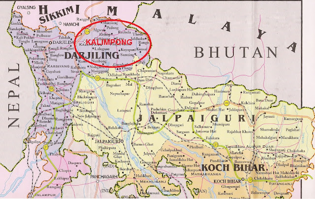 Kalimpong as a tract of Leasehold Land, rented from Bhutan