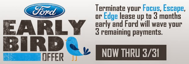 Ford Early Bird Lease Turn In Offer at North Brothers Ford