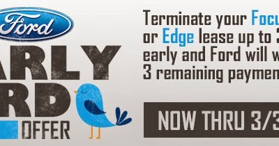 North Brothers Chronicle Ford Early Bird Lease Turn In