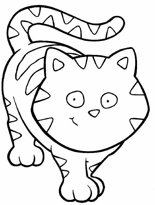 Fichas de animales para pintar: Gatos | Colorear y Pintar Dibujos