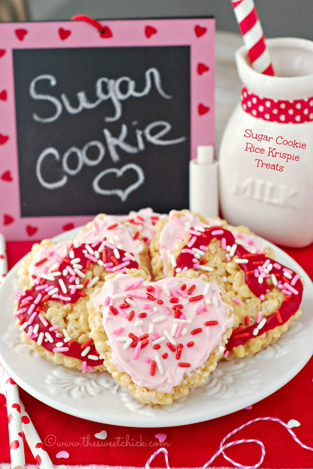 The Sweet Chick - Sugar Cookie Rice Krispie Treats
