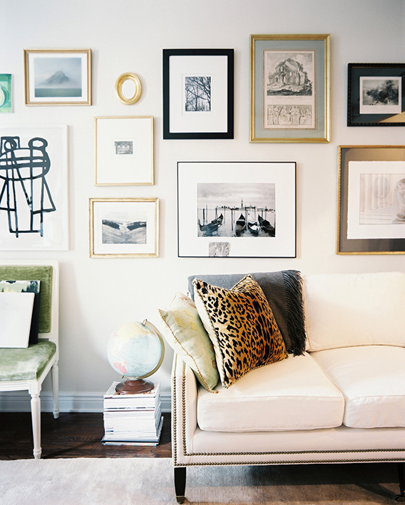 Elegant  alternative items to hang on a gallery art wall Image via Lonny