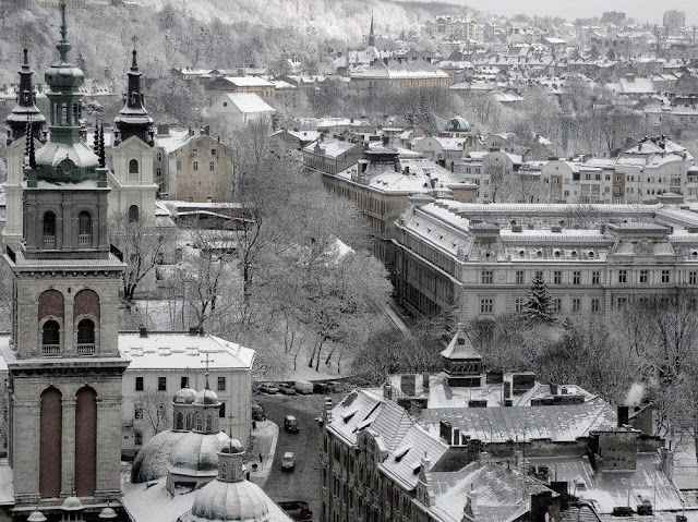 Winter in Lviv, western Ukraine