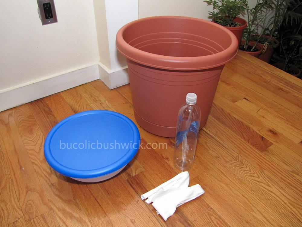 Bucolic bushwick diy self watering planter how to convert a standard planter - Diy self watering container garden ...