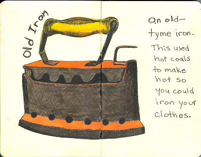 EDM 21 - Draw Something Old, Antique, or Vintage - An Old Iron - Watercolour and Ink rendered by Ana Tirolese ©2012