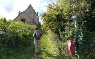 Hei leaving Bourton-on-the-Hill on the Classic Cotswold Walking Tour