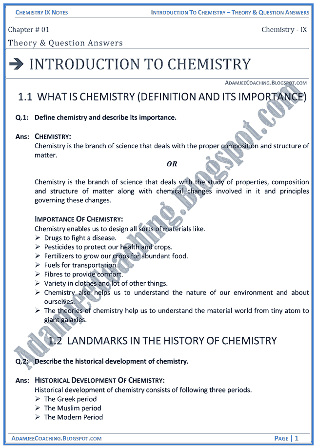 introduction-to-chemistry-theory-notes-and-question-answers-chemistry-ix