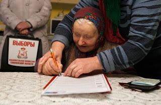Russische verkiezingen in beeld