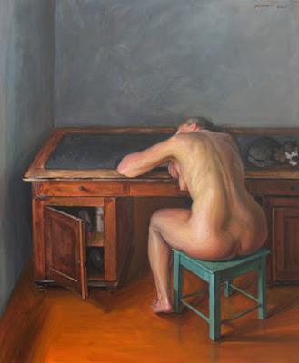 alaston nainen maalaus Kauniainen