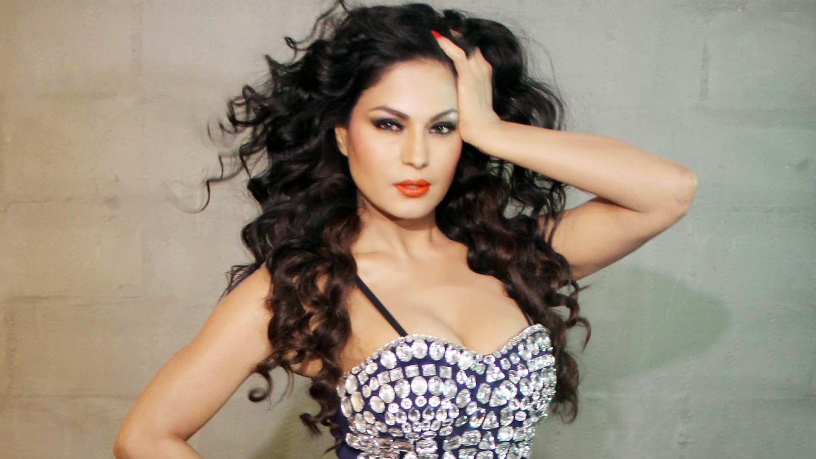 Bollywood actress veena malik sizzling hot wallpapers