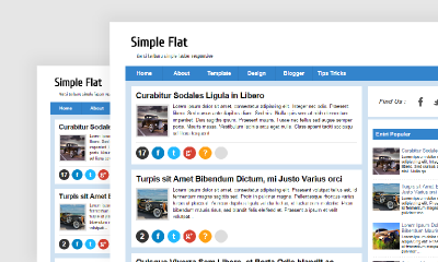 Download Simple Flat Blogger Template - Mas Sugeng
