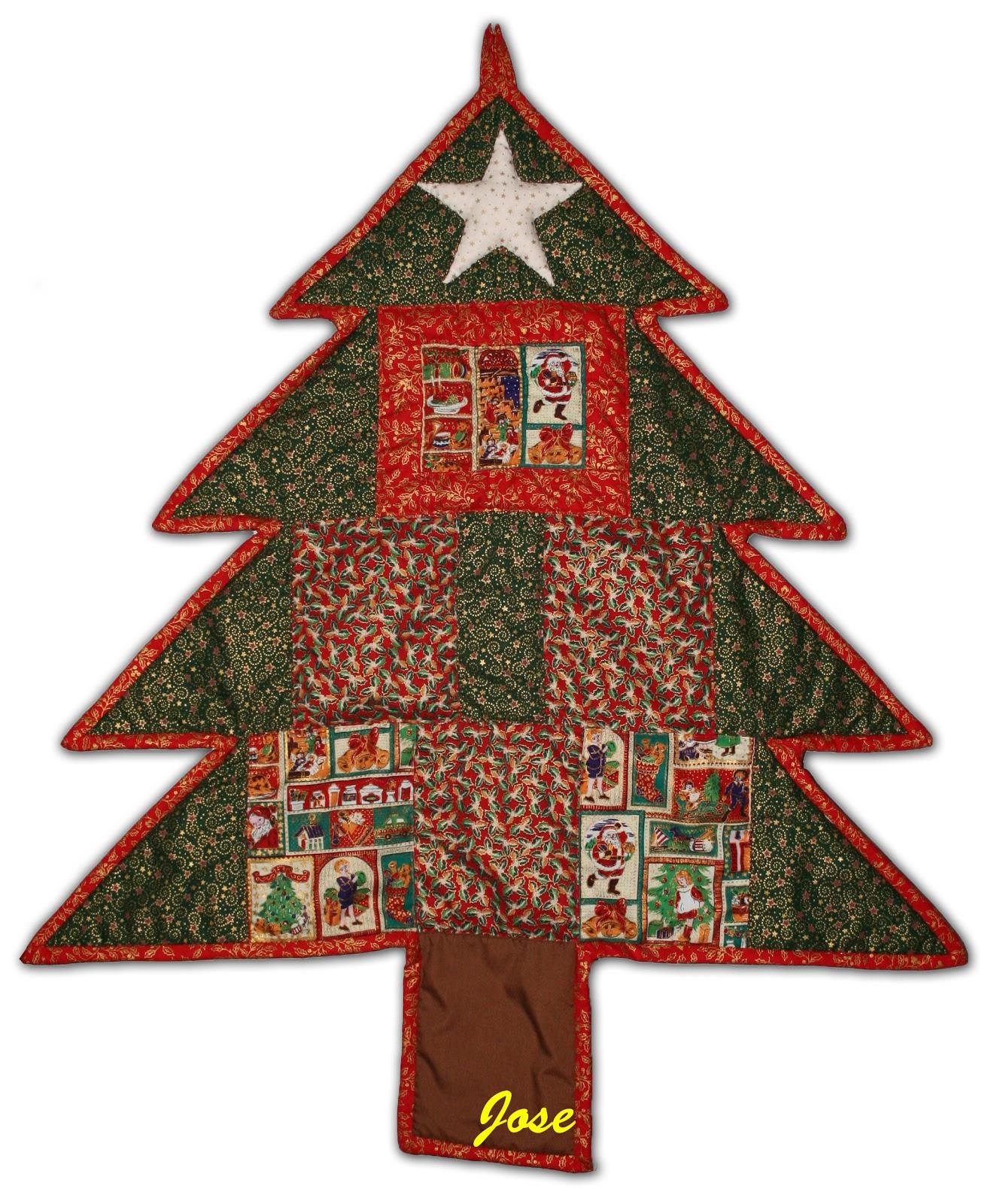Los hobbies de jose patchwork de navidad - Arbol de navidad tela ...