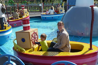 Boat ride at Peppa Pig World, Paultons Park with our toddler
