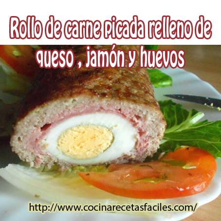 carne,huevos,jamón,queso,canela,pan rallado,