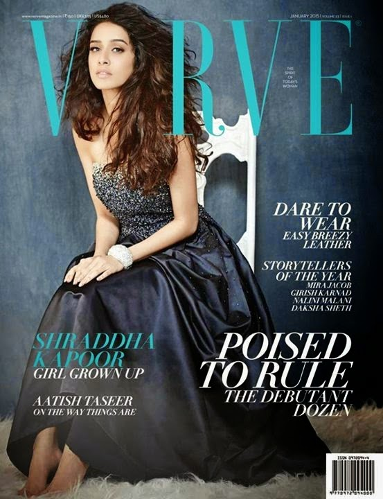 Shraddha Kapoor on Cover Page of Verve Magazine January 2015