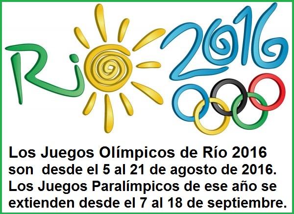 ¿Cuándo son los Juegos Olímpicos?