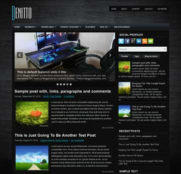 Denitto blog template. download magazine template blogspot.