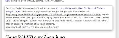 Cara Membuat Footer Keren di Setiap Post Blogspot