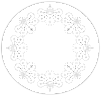flower circle free hand embroidery pattern