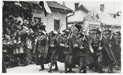 Polish mountain infantry -  Parade of Podhale Rifles circa 1936