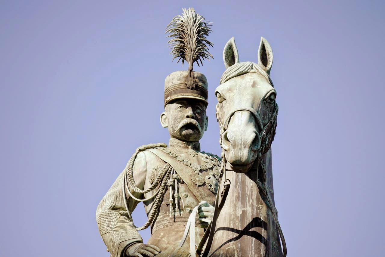 Prince Komatsu Akihito Statue, Ueno Park, 小松宮彰仁親王の像, 上野公園