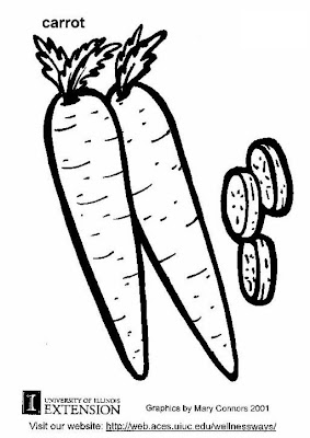 Carrot Coloring Page
