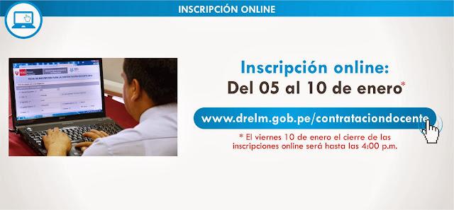 PAGINA WEB PARA INSCRIPCION AL CONCURSO DE CONTRATO DOCENTE 2014-DRELM
