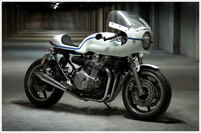 "Honda CB750 Cafe Racer named as ""Honda CB750 Old Spirit"" built by Ruleshaker Motorcycles"