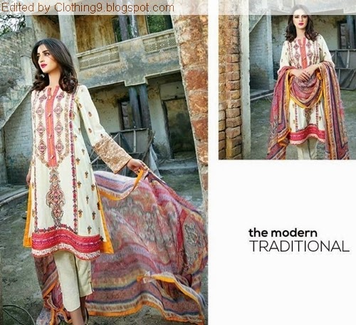 Motifz Winter Embroidered Collection 2015