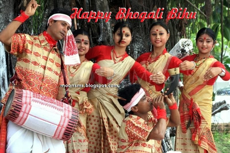 Bhogali Bihu 2014 Aassamese sms text message Wishes in English Hindi with images pictures HD wallaper and greetings cards