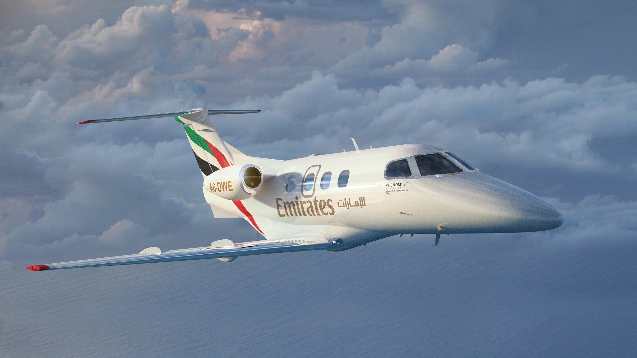 É MAIS QUE VOAR | Emirates Flight Training Academy assina pedido para até 10 jatos Phenom 100E