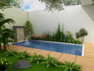 gambar rumah minimalis terbaru: kolam renang kecil