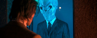 Dr Who, the Wedding of River Song, a captive Silent