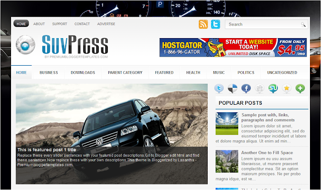 Auto SUV Blogger Template