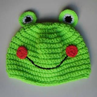 mũ len mắt ếch bé gái