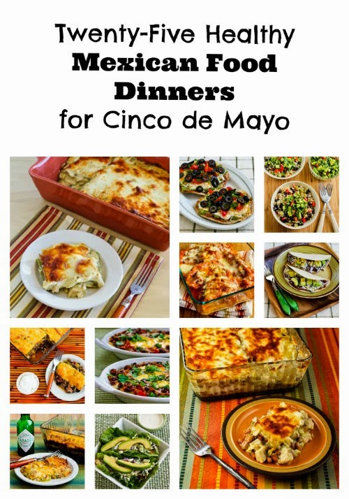 Twenty-Give Healthy Mexican Food Dinner Recipes for Cinco de Mayo found on KalynsKitchen.com